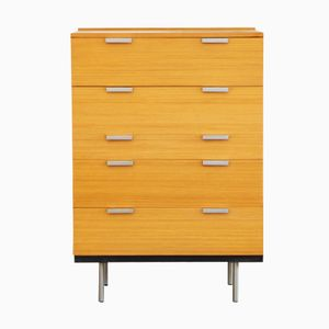 British Birch Chest of Five Drawers by Sylvia & John Reid for Stag