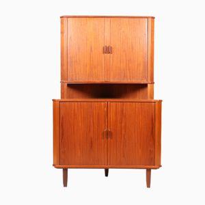 Midcentury Danish Teak Corner Cupboard, 1950s