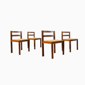 Dutch Wenge Dining Chairs, 1970s