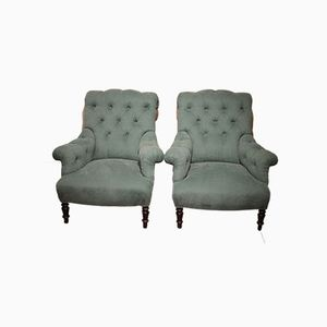 French Fauteuils, 1860s, Set of 2