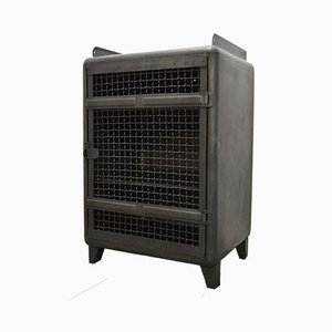 Mid-Century French Industrial Grille Buffet