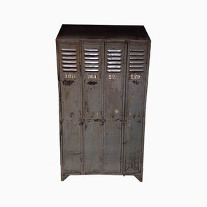 Mid-Century Industrial Factory Locker