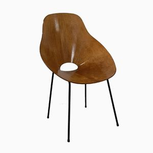 Italienischer Sperrholz Stuhl, 1955