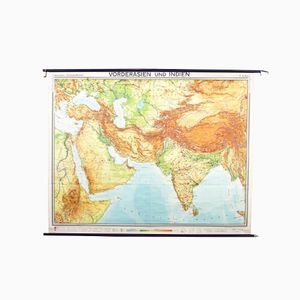 Vintage Middle East & Asia Map