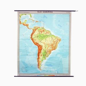 Vintage South American School Map