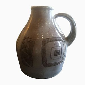 Vintage Ceramic Jug by Norbert Pierlot
