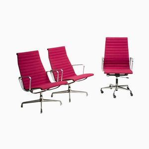 Aluminum Office Chair Set by Charles & Ray Eames for Herman Miller, 1979