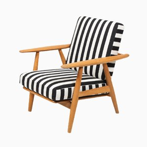 Danish GE 240 Oak Easy Chair by Hans J. Wegner for Getama, 1950s
