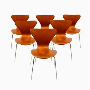 Danish Series 7 Teak Dining Chairs by Arne Jacobsen for Fritz Hansen, 1960s, Set of 6