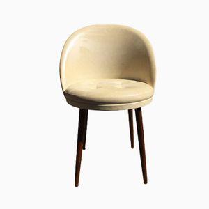 Dänischer Teak Frisiertisch Stuhl, 1960er