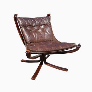 Niedriger Dänischer Falcon Chair von Sigurd Ressell für Vatne Møbler, 1960er