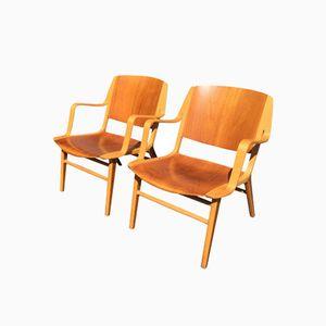 Dänische AX Teak Stühle von Peter Hvidt & Orla Mølgaard Nielsen für Fritz Hansen, 1960er, 2er Set
