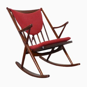 Mid-Century Teak Rocking Chair by Frank Reenskaug for Bramin