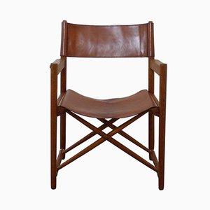 Mid-Century Danish Folding Safari-Style Chair, 1960s