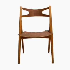CH29 Teak and Oak Chair by Hans J. Wegner for Carl Hansen & Son