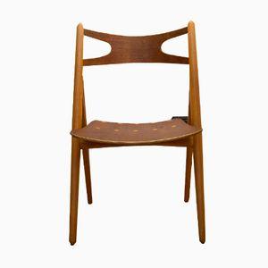 Chaise, Modèle CH29, en Teck et Chêne par Hans J. Wegner pour Carl Hansen & Son