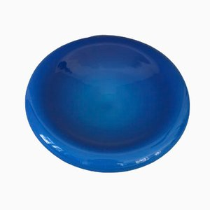 Cendrier Bleu en Verre Opalin par Vincenzo Nason
