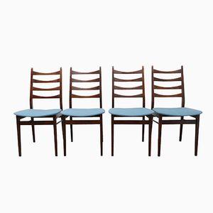German Vintage Dining Chairs, Set of 4