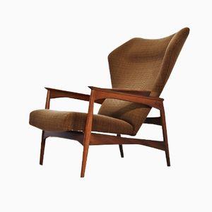 Reclining Wingback Lounge Chair by Ib Kofod-Larsen for Carlo Gahrn, 1954