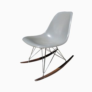 Sedia a dondolo grigia di Charles & Ray Eames per Herman Miller, anni '60