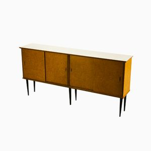 Dutch Sideboard with Sliding Doors from Nissen Naarden, 1950s