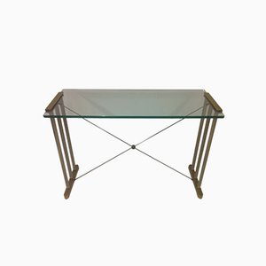 Vintage Brass & Steel Console Table by Peter Ghyczy