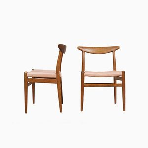 W2 Dining Chairs by Hans Wegner for C.M. Madsen, Set of 2