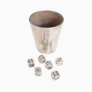 Silver Yahtzee Game Set from Gayer & Kraus, 1960s