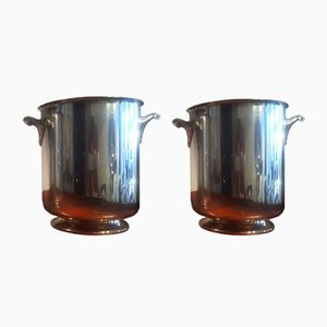 Vintage Champagne Buckets from Christofle, Set of 2