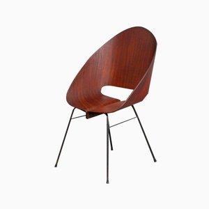 Stapelbarer Italienischer Stuhl aus Modelliertem Sperrholz, 1950