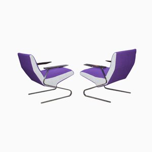 Cantilever Chairs by Georges Vanrijk for Beaufort, 1955, Set of 2