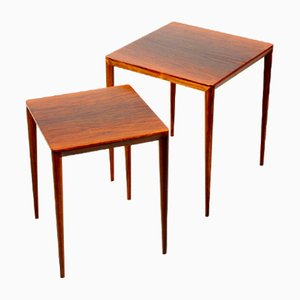 Mid-Century Rosewood Nesting Tables by Erik Risager for Haslev, Set of 2