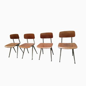 Result Chairs by Friso Kramer for Ahrend de Cirkel, 1950s, Set of 4