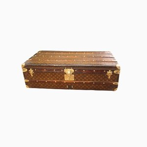 First Edition Stenciled Monogram Canvas Steamer Trunk from Louis Vuitton, 1920s