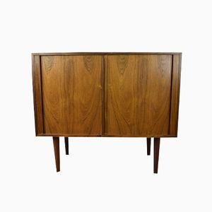 Danish Brazilian Rosewood Cabinet with Tambour Doors by Kai Kristiansen for Feldballes Møbelfabrik, 1960s