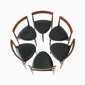 Dänische Mid-Century Teak Esszimmerstühle von Hans Olsen für Frem Røjle, 6er Set
