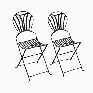 Klappbare Französische Gartenstühle, 2er Set