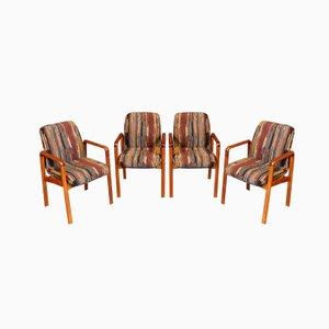 Mid-Century Danish Teak Dining Chairs from Dyrlund, Set of 4