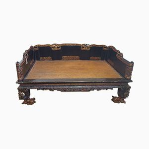 19th Century Qing Dynasty Opium Daybed, 1850