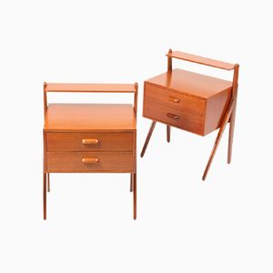 Danish Teak Nightstands from Ørum, 1950s, Set of 2