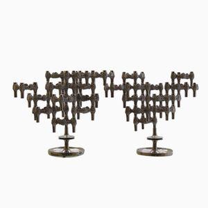 German Brutalist Variomaster Candelabras by Quist, 1960s, Set of 2