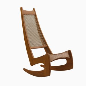 Rocking Chair en Frêne de Jeremy K. Broun, Angleterre, 1970s
