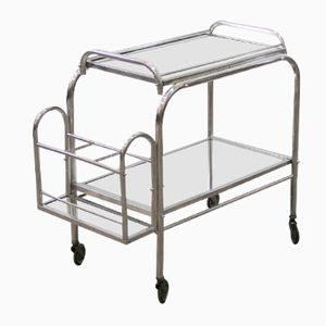 Vintage French Aluminum Trolley