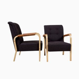 Vintage Model 47 Armchairs by Alvar Aalto for Artek, Set of 2