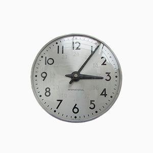 Horloge Murale Industriel, Belgique, 1940s