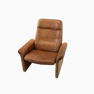 DS-50 Sessel aus Braunem Büffelleder von De Sede, 1960er