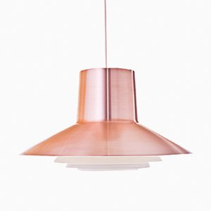 Red Copper Pendant by Svend Middelboe