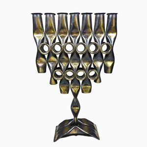 Large Brass Candle Holder, 1960s