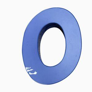 Blue Neon Letter O