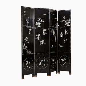Chinesischer Handbemalter Wandschirm mit Perlmutt